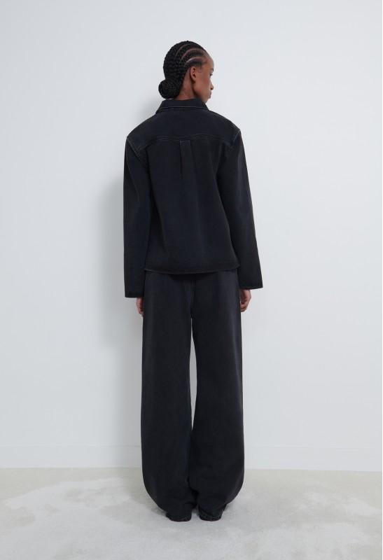 DAVAO Leather Blazer