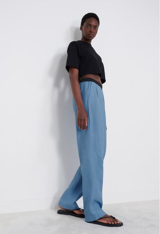 BIDONG Pantalon en Lin